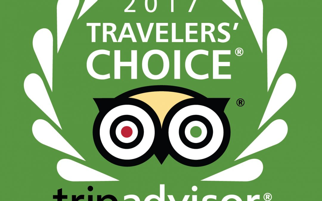 The Canyon Villa Wins 2017 Tripadvisor Travelers' Choice Award For Hotels