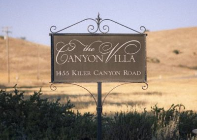The Canyon Villa Sign